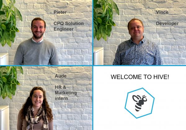 Welcome to our new bees: Pieter, Vince and Aude!